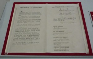 Japanese Surrender Document from 1945